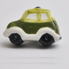 8pcs bus car series Ceramic knob for Kids Children Room cartoon Cabinet Drawer Pull knobs Handle