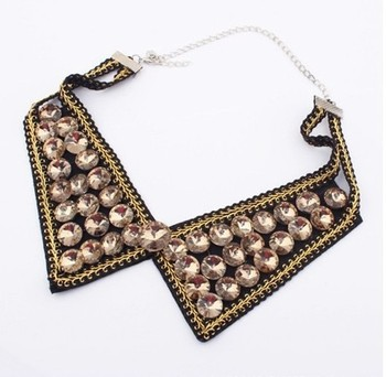 [Min order $15.00 can mix styles] HOT Sale!! Europe all match round glass assemble hand made fake collar necklace