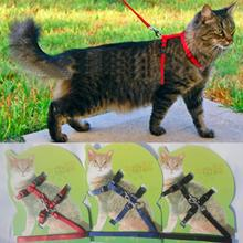 Cat Harness And Leash Hot Sale 3 Colors Nylon Products For Animals Adjustable Pet Traction Harness Belt Cat Kitten Halter Collar(China (Mainland))