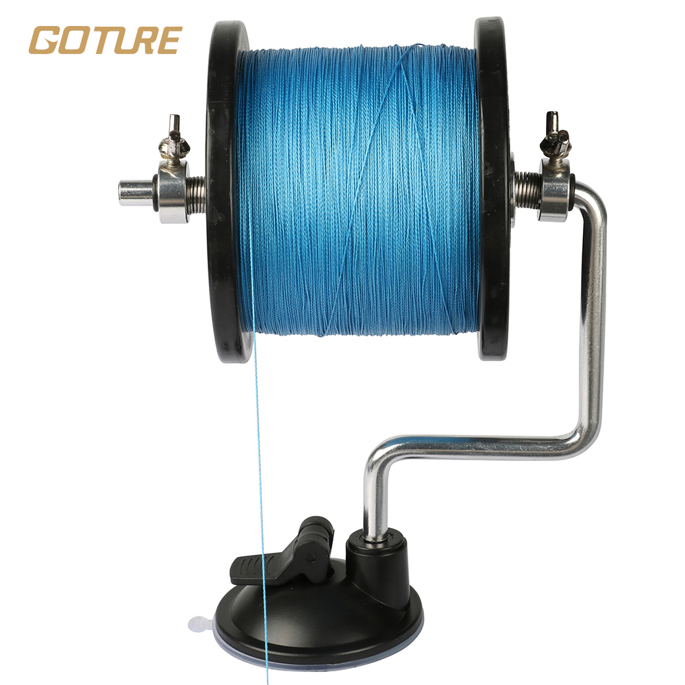 Goture 14cm 130g compact aluminum fishing line winder reel for Fishing reel line winder