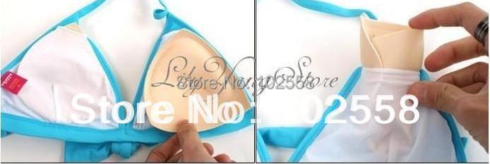 2 Pcs Bikinis Swimsuit Sponge Bra Invisible Inserts Pads Push Up Enhancer Breast Sexy Free Shipping