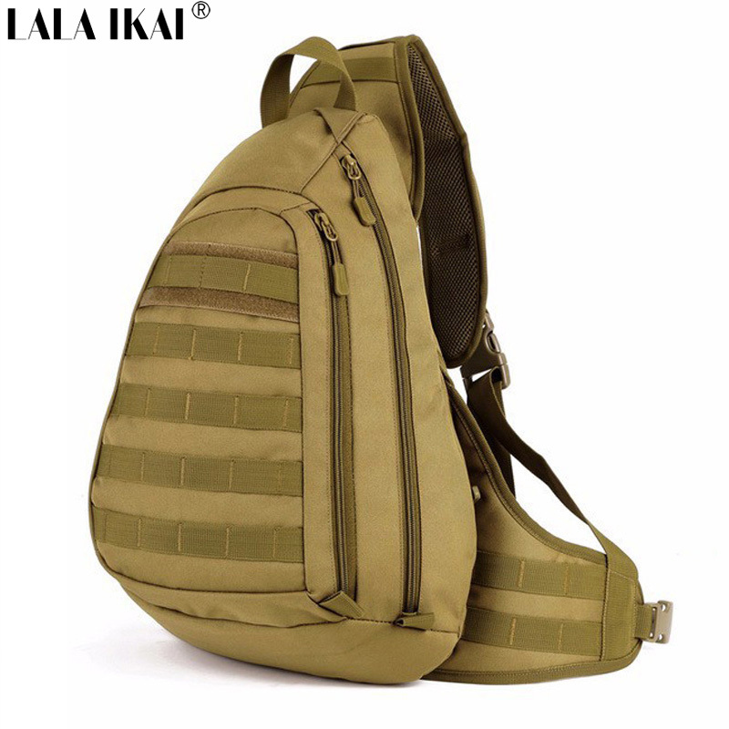 IKAI Men Shoulder Bag Outdoor Hunting Military Sling Bag Waterproof Nylon Molle Bag Army Camouflage Men Crossbody Bag YIA0180-2(China (Mainland))
