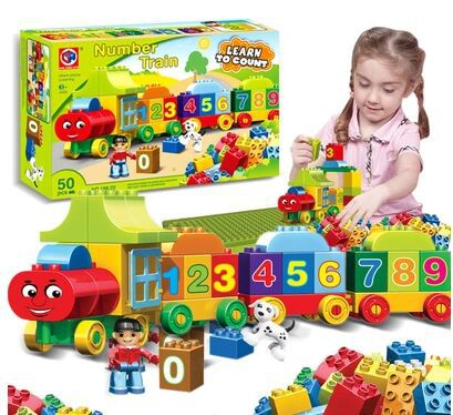 Thomas train blocks toys Digital Children's Educational toys for baby boy and girl gift free shipping(China (Mainland))