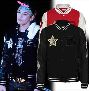 BIGBANG G Dragon Jacket Big Bang GD Hoodie Coat Baseball Uniform KPOP Sweatshirt - China Western foreign trade company store