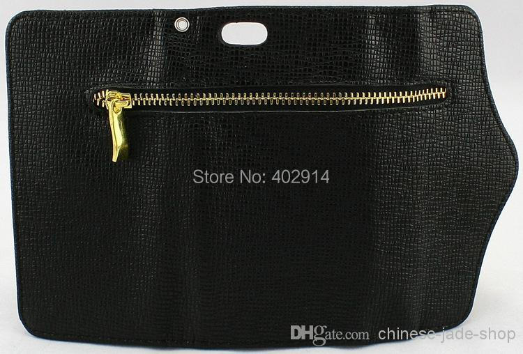 Wholesale - Leather Zipper Wallet Credit Card Case cover fFor Apple Iphone 4 4s 5 5s 50pcs/lo(China (Mainland))
