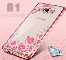 Secret Garden Electroplate Flower Diamond Pattern Case Samsung Galaxy J3 J5 J7 J510 J710 2016 Bling Soft TPU Clear Cover - Aplus Technology Co.,Ltd store