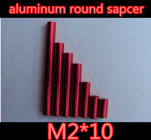 High Quality M2*10mm red aluminum spacer round standoff nut  RC QuadCopter/frame Kit<br><br>Aliexpress