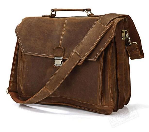 Real Genuine leather mens messenger bags United States men briefcase Crazy Horse man business mens travel  shoulder tote bag <br><br>Aliexpress