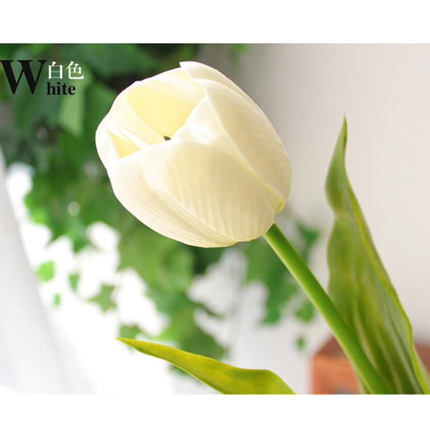 DIY High simulation Tulip Artificial Silk Bouquet Flowers Home Wedding Decoration Garden - Ice Yun store