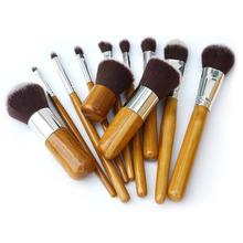 11Pcs Professional Makeup Brush Cosmetic Brushes Tools Kit Foundation Set