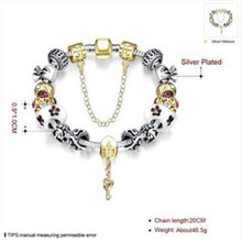Buy Brand Charm Bracelets & Bangles 925 sterling Silver Zircon Women Elegant Fashion Wedding Party Jewelry NEW Sl 122 for $4.79 in AliExpress store