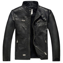 Hot Sale Factory Men Leather Jacket Genuine Real Sheepskin Leather Fashion Brand Short Man's Motorcycle Biker Coat Spring winter(China (Mainland))