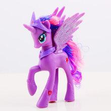 14 centímetros Meus Brinquedos Little Pony Friendship Is Magic Rainbow Unicorn Pony Pinkie Pie Pop Ação PVC Figura Colletion Modelo bonecas(China)