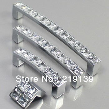10PCS 96mm Clear Crystal Zinc Alloy Bathroom Kids Dresser Knobs And Handles Drawer Kitchen Cabinet Pulls Bar