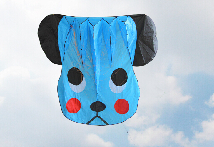3D blue 1 Line Stunt Parafoil Dog POWER Sport Kite outdoor toy free shipping(China (Mainland))