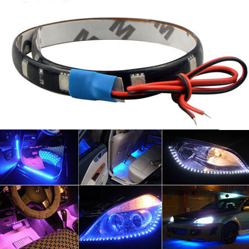 Гаджет  1Pcs High Power LED Daytime Running lights DRL 12V Waterproof Auto Car Decorative Flexible Strip tape light DIY Fog car lamp None Свет и освещение