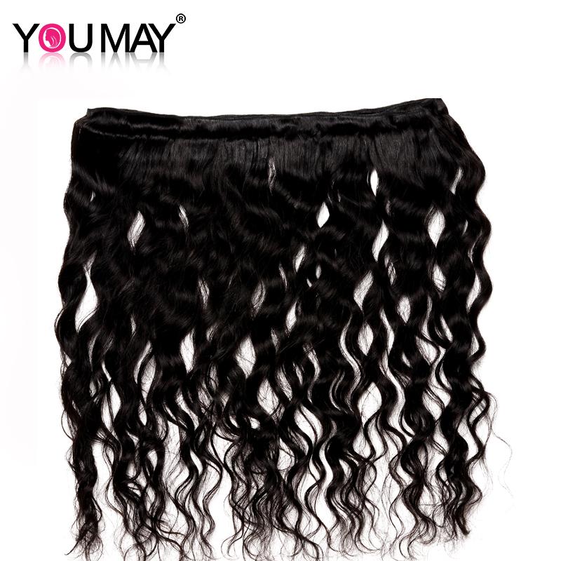 You May Hair Brazilian Human Hair Weaving Bundles Loose Wave Remy Hair Natural Black Color