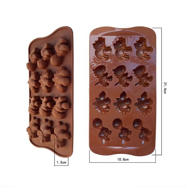 DIY Silicone Ice Cube Jelly Cake Chocolate Molds Dinosaur Mould Baking Tools QOpsb(China (Mainland))