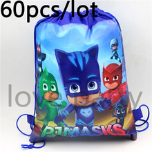Buy 60pcs/lot Birthday Party Decoration Baby Shower PJ Masks Kids Favors Mochila Non-Woven Fabric Backpack Drawstring Bags Supplies for $58.29 in AliExpress store