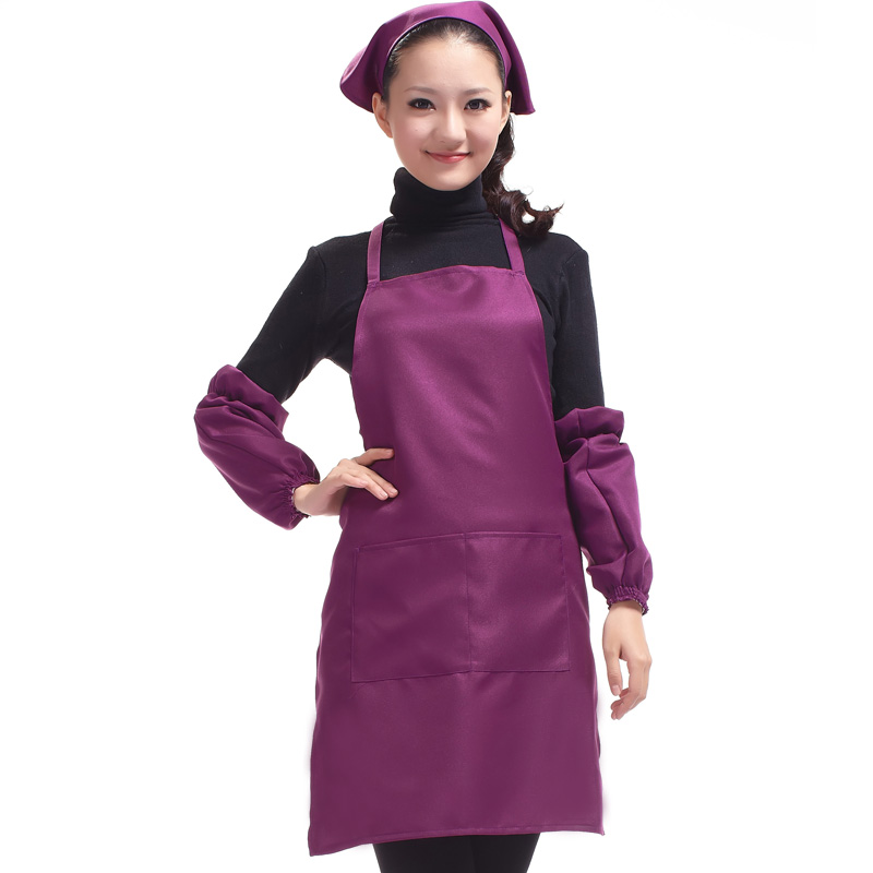 Korean Fashion Lady Aprons, Kitchen Aprons Clean, Restaurant Overalls, Aprons Advertising Customized, Customized Printing Logo(China (Mainland))