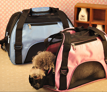 High Quality Portable Dog Bag For Big Dogs Folding Mesh Breathable Pet Carrier Bag Carry For Small Cats 4 colors Free shipping(China (Mainland))