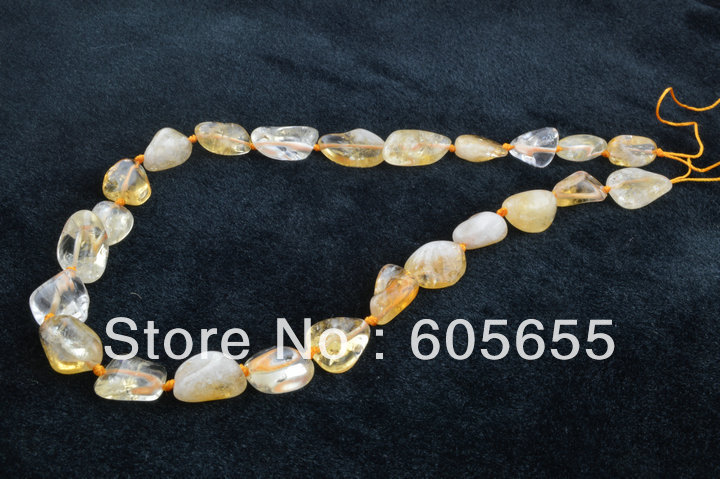 Semi-precious stone 18x22mm Yellow Crystal Citrine Nugget Oval Beads in Bulk for Jewelry Making Free Shipping 10 strands per lot<br><br>Aliexpress