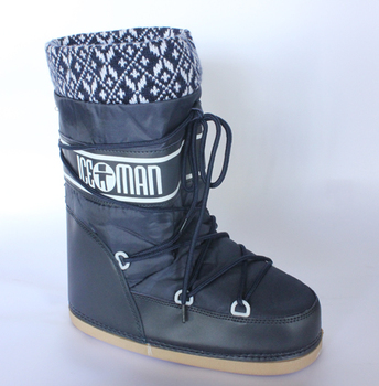 Short in size ! end of a single moon snow boots shoes skiing boots space women's shoes