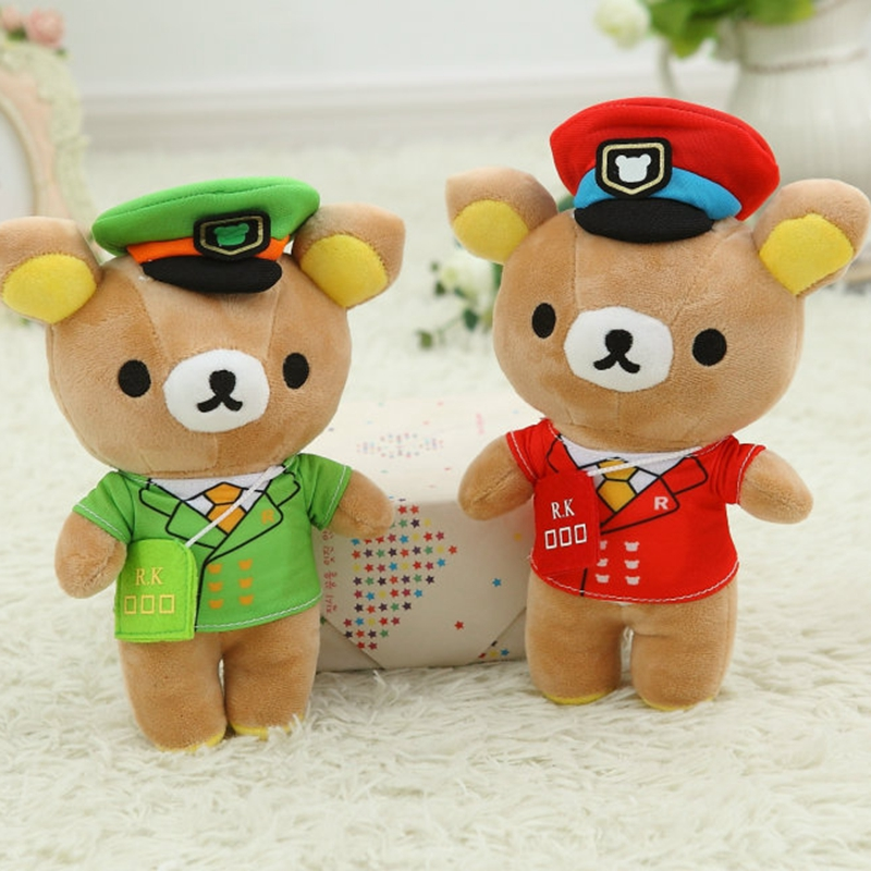 Navy suit space cloak easily bear, easily bear plush toys, small pendants, birthday gift, Christmas gift, grasping machine doll(China (Mainland))