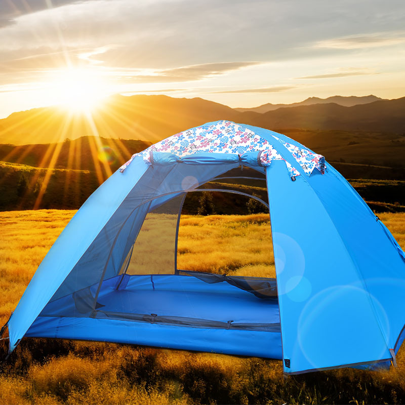 FLYTOP tent outdoor recreation camping equipment tents travel waterproof double layer tent 2 people for free ultralight 1.8kg