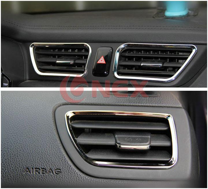 ABS air conditioning cover special interior conversion 4pcs/set For Kia RIO K2 2010 2011 2012 2013(China (Mainland))