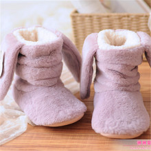 High Quality Winter Cute Ladies Warm Indoor Boots Women Rabbit Ears Warm Boots Home Shoes Cashmere Chinelos Femininos Botas
