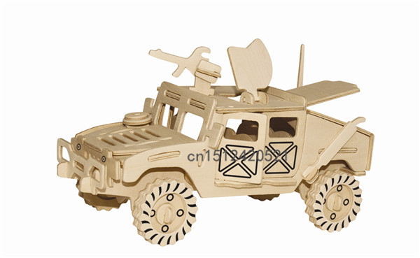 Big jeep 3D Car Series three-dimensional jigsaw puzzle wooden Toy Puzzle DIY simulation model Children's puzzle Educational(China (Mainland))