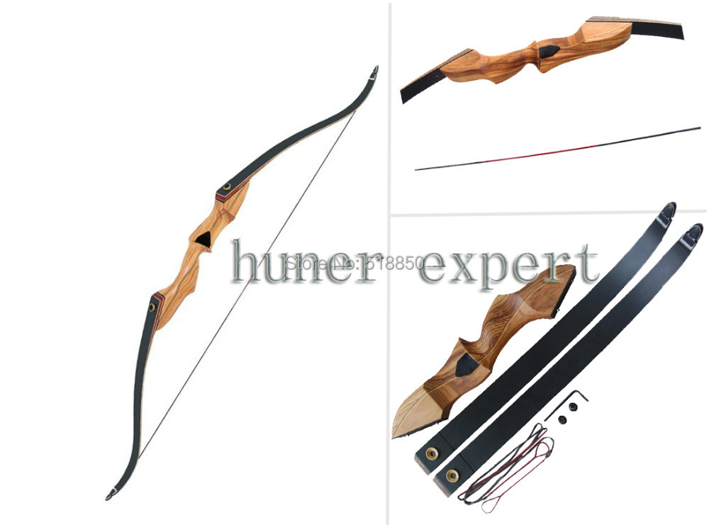 china traditional targeting take down bow laminating wooden RH 55lbs 3pcs for adult archer hunting(China (Mainland))