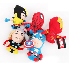 2015 new Avengers 2 Doll Plush Stuffed Toy,Captain America/Iron Man/Thor For Children Birthday Gifts,Drop 18cm Free Shipping(China (Mainland))