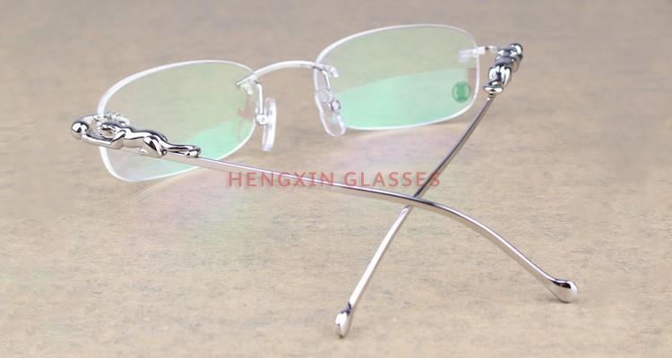 best designer glasses j5w8  Best Gift Panther 2012 Series Limited Rimless Eyeglasses for Men&Women/  Eyewear Optical Frames Designer Eyeglasses