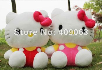 Cartoon Soft Children Hello Kitty Stuffed Doll  Plush Toy For Kids Animal Baby Doll 45cm Free Shipping