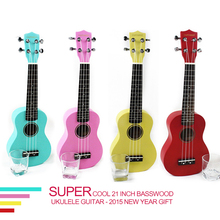 Quality 21 inch colorful basswood Ukulele for novice Guitar learner low price new year gift hot sale(China (Mainland))