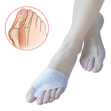 1 par = 2 pcs Hallux valgus orthèses, Silicone orteils séparateur gros orteil Bunion correcteur, Utilisation quotidienne soins des pieds outil coussin orthopédique(China (Mainland))