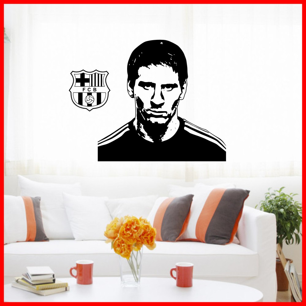Free Shipping Argentine football stickers sport stickers Barcelona star Lionel Messi dribbling T1734(China (Mainland))