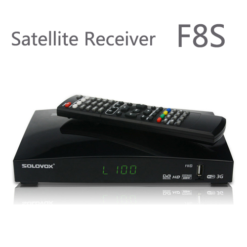 1PCS Free Shipping Original SOLOVOX F8S Satellite Receiver/ TV Box Support 2 USB WEB TV Card Sharing 3G modem(China (Mainland))
