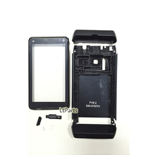 Black full replacement cellphone housing repair cover case for nokia n8 faceplate body panel shell frame shell with spare parts(China (Mainland))