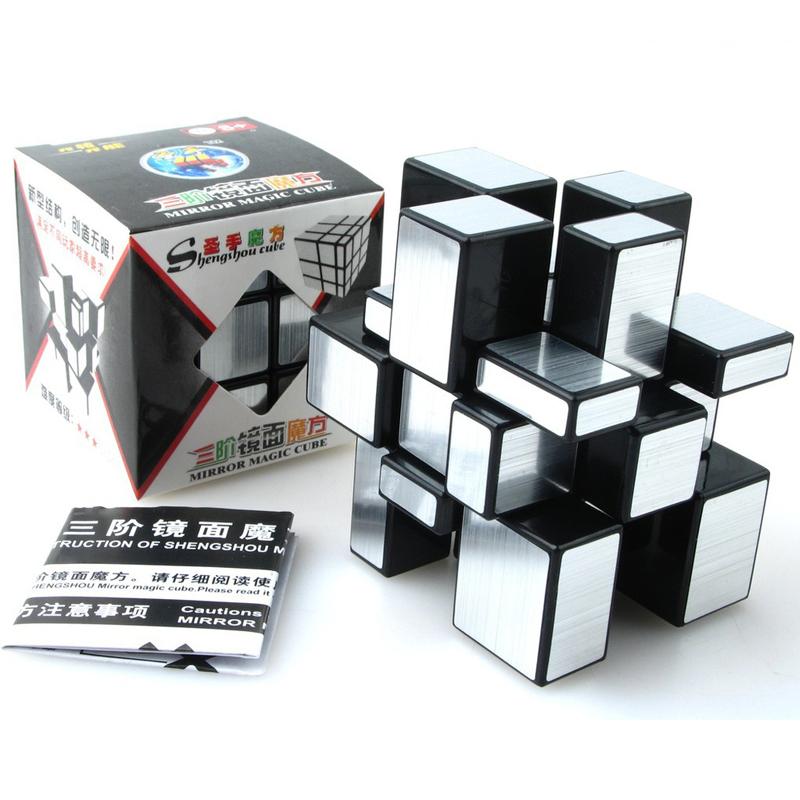 ShengShou Brushed Cast Coated Mirror Blocks Magic Cube 3x3x3 Puzzle Mirror Cubes Educational Cubo magico kub Juguetes toys(China (Mainland))