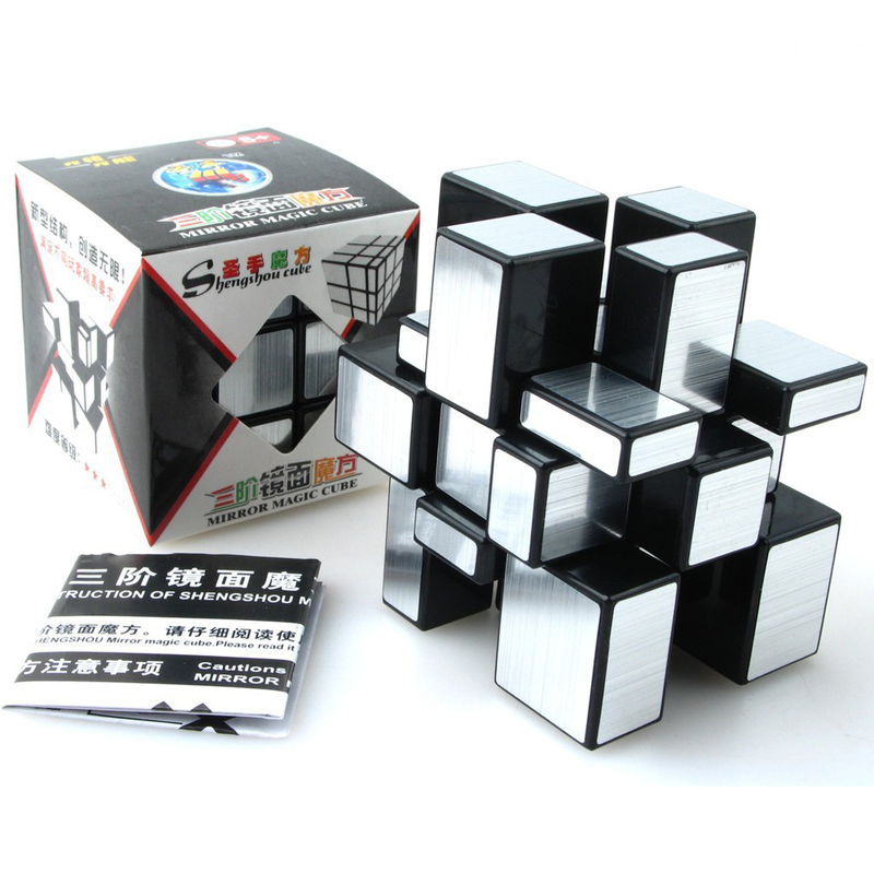 ShengShou Brushed Cast Coated Mirror Blocks Magic Cube 3x3x3 Puzzle Mirror Cubes Educational Cubo magico kub Juguetes toys(China (Mainland))