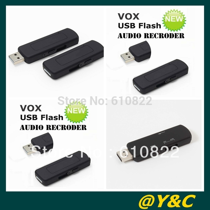 Brand New 4GB VOS Voice Actived USB Voice recorder USB audio recorder Sliding USB connector free shipping(China (Mainland))