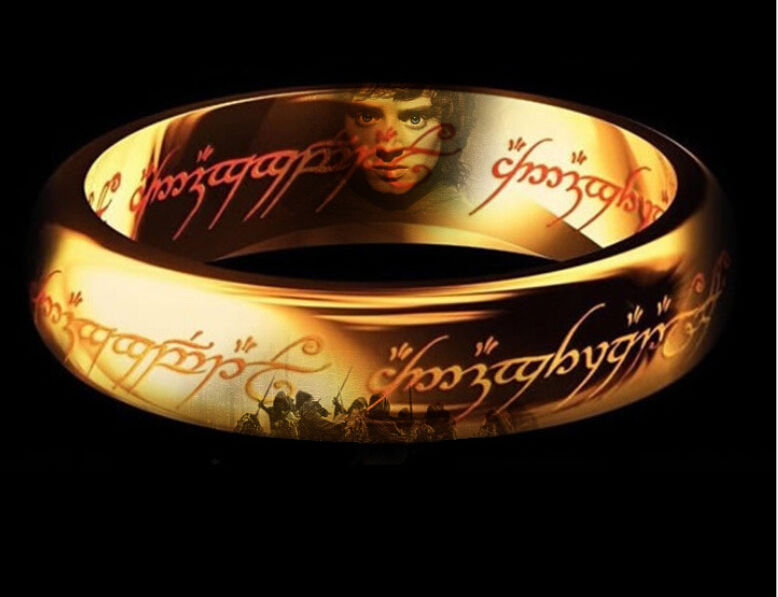 Size 6-12 Retro Hot Wholesale Jewelry The Lord of the rings Stainless steel film Rings for Men Women Gift Width 6mm with box(China (Mainland))