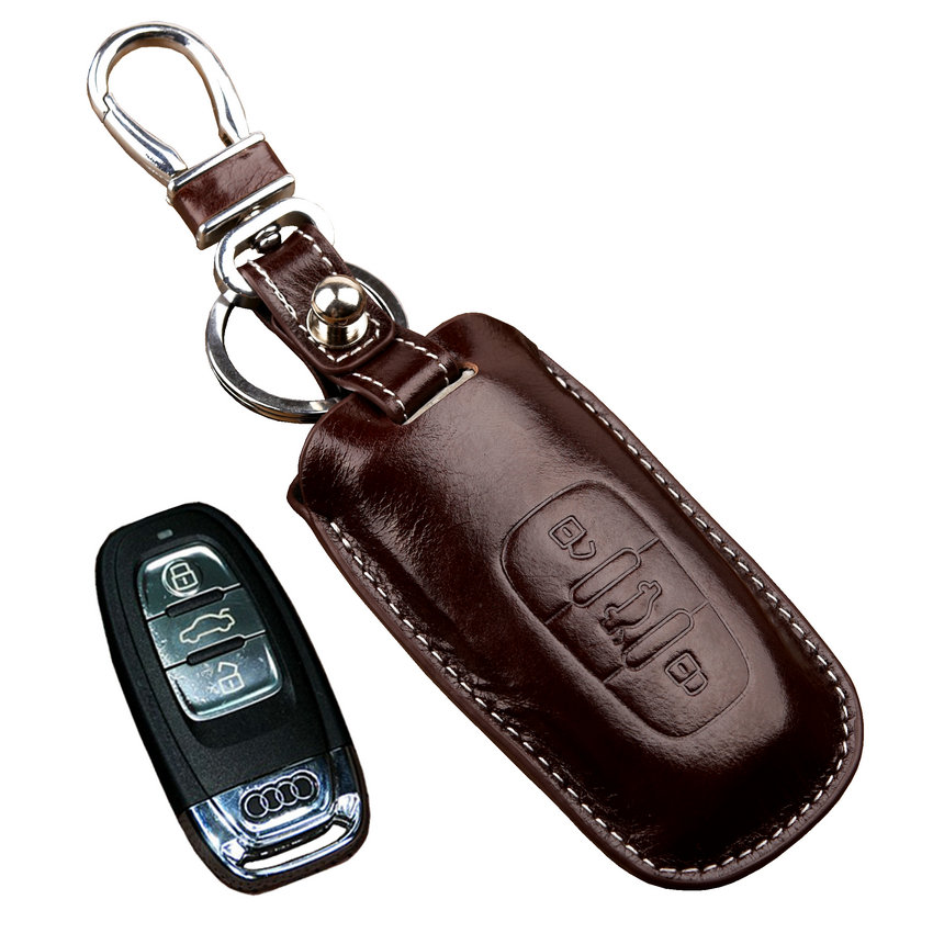 FOB Fashion Leather Key Wallets Holders for audi A4L A5 A6 A8 SUV Q5 Q7 RS5 RS7 Key Cover/Case Key chain ring Car accessories(China (Mainland))