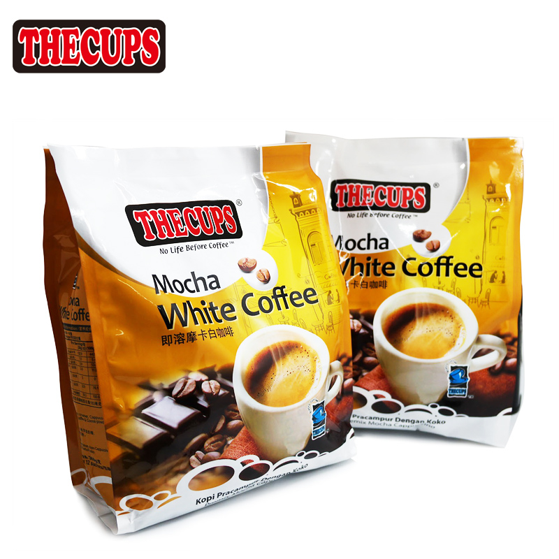 Malaysia import original instant white coffee Mocha instant white coffee 360 g free shipping