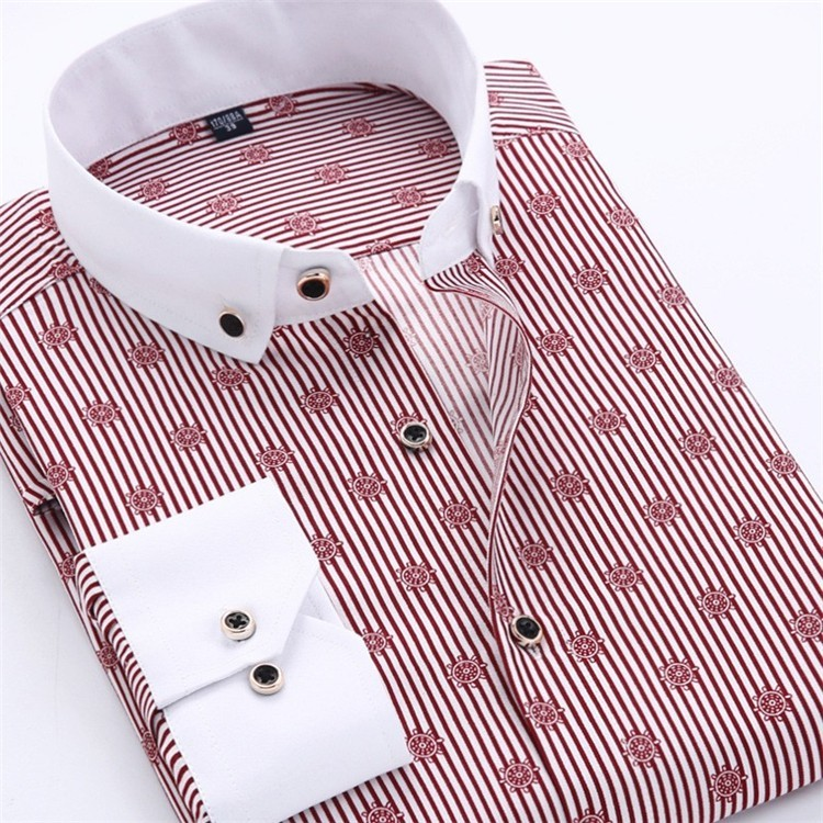 Men Dress Shirt 2016 Spring New arrival Button Down Collar High Quality Long Sleeve Slim Fit Male Business Shirts M-5XL YN02614