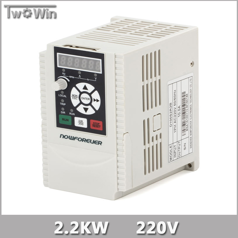2.2KW 220V 1HP Variable Frequency Drive VFD Inverter Output 3 Phase 400Hz 10A Inverter.(China (Mainland))