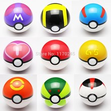 1Pcs Action Toy Ball Figure Anime Cartoon Pokemon PokeBall Ball Super Master Great Ball kids Cute Doll toy with Pikachu gift